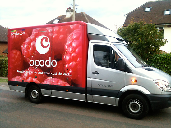 Ocado Raspberry Van food photography