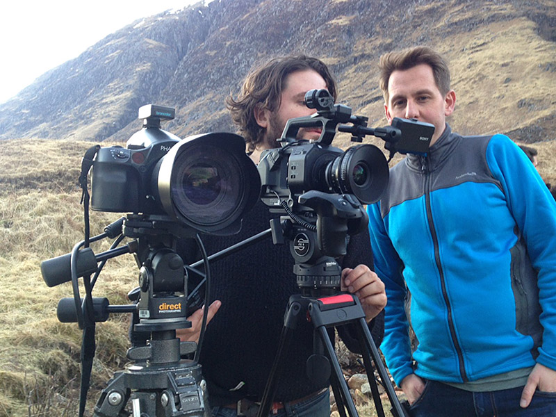 BTS Studio video and stills shoot Glen Coe