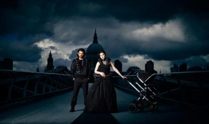 Millennium bridge London advertising for iCandy