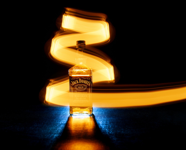 £4 LED bulb to light a bottle of Jack Daniels