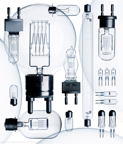 Composite image of  lightbulbs