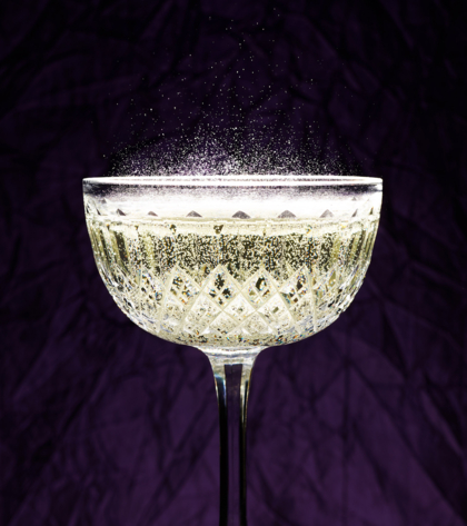 Champagne bubbles effervescence