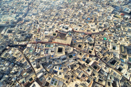 Award winning photo - Aerial photograph of Marrakech Morocco