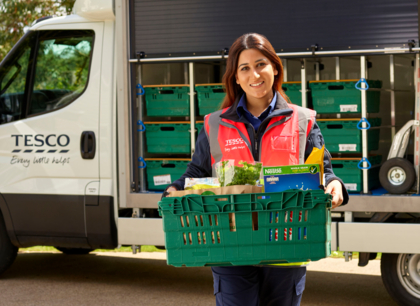 Tesco delivery driver