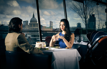 OXO Tower Restaurant Addvertising for iCandy
