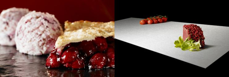 Cherry Pie and fake ice-cream and a composite food photo