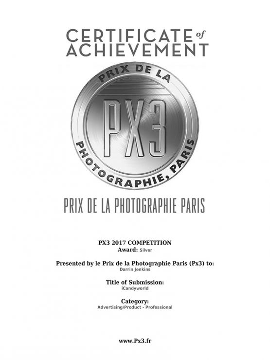 Px3 silver award certificate