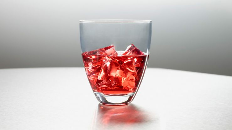 Broken glass making fake ice cubes