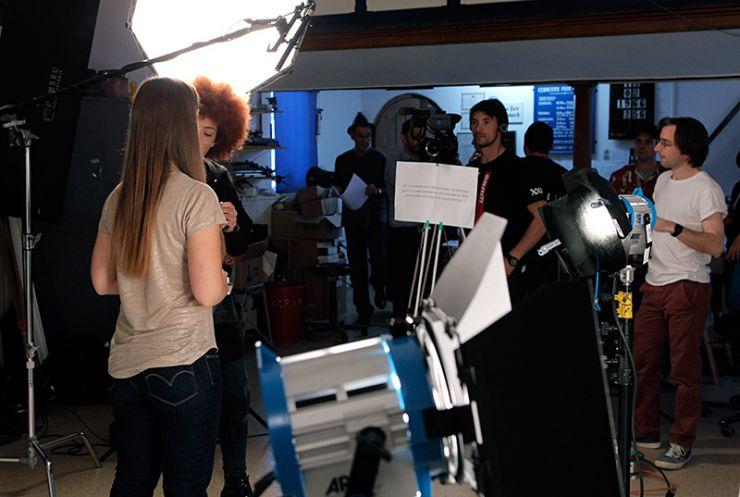 Behind thge scenes of video shoot in my studio