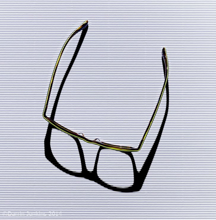 Abstract photography of a pair of glasses