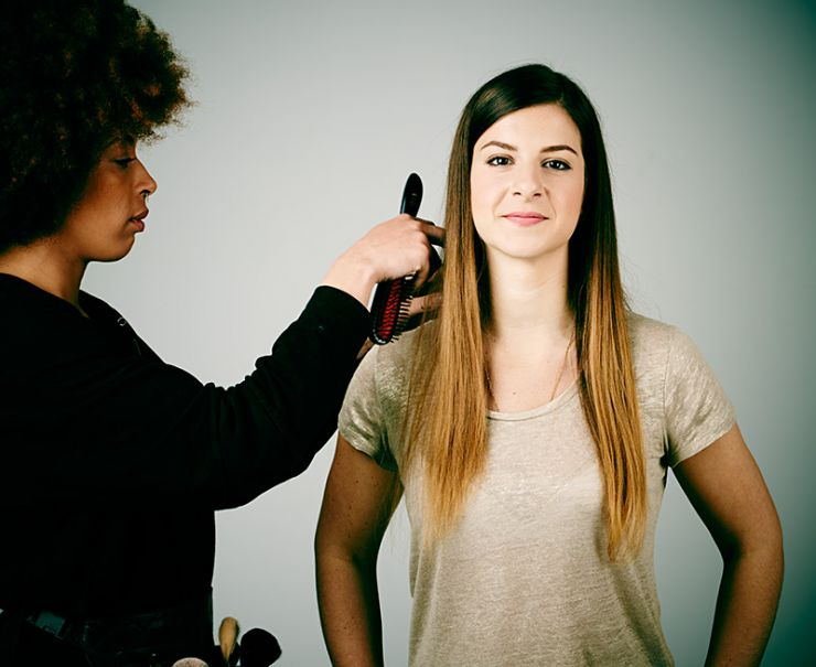 Make-up during video shoot